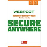 WEBRC Webroot SecureAnywhere  Internet Security Plus 1 Year 3 Device  (3-Users)