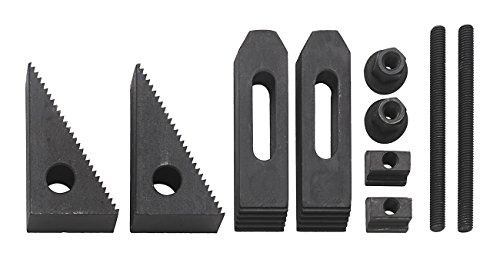 WABECO Spannpratzen Satz 10-teilig für T-Nutenbreite 12 mm und Gewinde M10 Spanneisen Spannwerkzeug