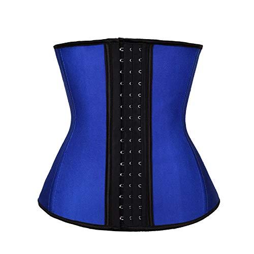 Eantpure Mujer Corsé Underbust,Cinturón de Abdomen de Gran tamaño, Modelado de Abdomen, Gimnasio, Modelado de Cintura y Calor, cinturón-Blue_2X_Large,Busto,Body Shaper