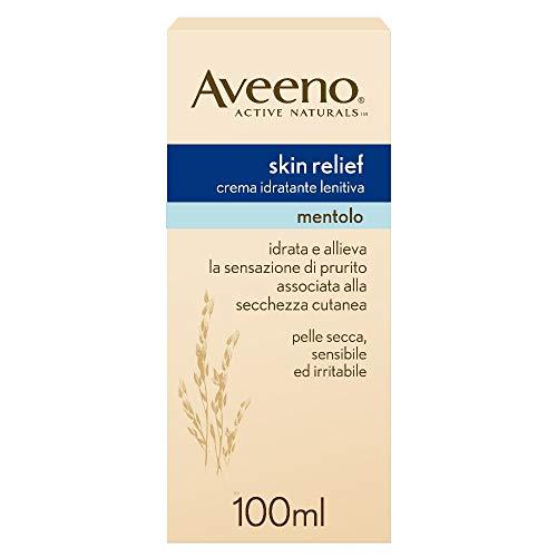 Aveeno Crema Idratante Lenitiva, Skin Relief, Mentolo, Pelli Secche, 200 ml