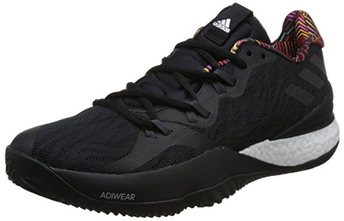 adidas Herren Crazy Light Boost 2018 Basketballschuhe, Schwarz (Core Black/DGH Solid Grey/Core Black), 50 2/3 EU