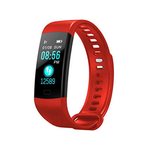 Ningz0l Fitness Tracker Smart Armband horloge Bluetooth Slaap hartslag bloeddrukbewaking waterdichte stappenteller kleurenscherm geschenk rood