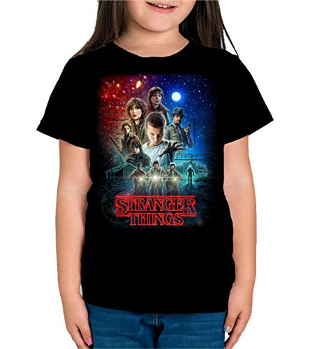 Camiseta de NIÑAS Stranger Things Once Series Retro 80 Eleven Will 001