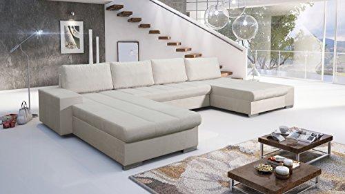 Sofa Couchgarnitur Couch Sofagarnitur Verona U Polstergarnitur Polsterecke Wohnlandschaft mit...