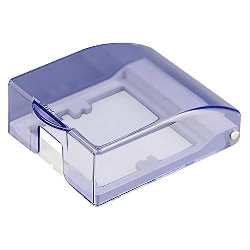 Yardwe 1 Gang-Steckdosenabdeckung Durchsichtiger, wasserdichter Steckdosenschutz für Steckdosenabdeckung