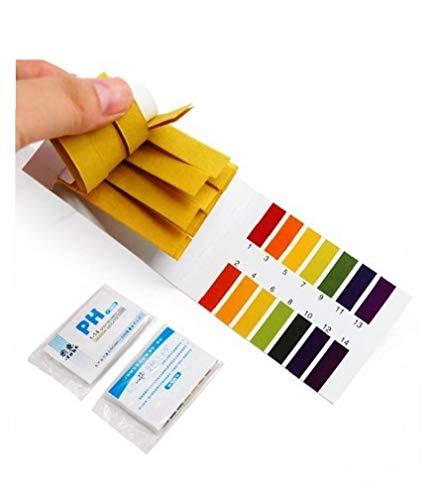 KHHGTYFYTFTY 160pcs pH-Testpapier Flüssigbereich 1-14 pH-Streifen für Wasser Boden Lackmus-Test