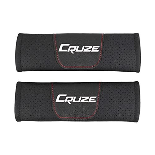 NADAHHPP 2Pcs Coche Seguridad Cinturón Hombro Cinturón Almohadillas, para Chevrolet Cruze Seat Belt Cover Shoulder Pads, Protección Acolchado Cojín Interiores Accesorios(Red,Black)