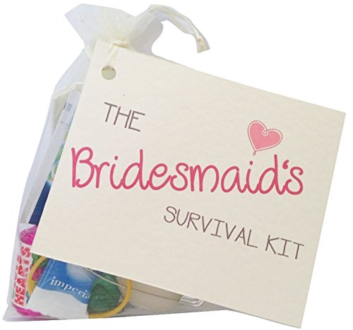 The Bridesmaid Novelty Survival Kit. Wedding gift for the bridesmaid....