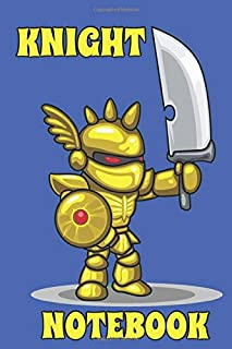 Knight Notebook  - Sword - Blue - Yellow - College Ruled