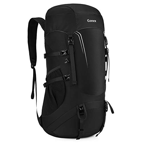 Gonex 45L Packable Travel Backpack, Lightweight Dackpack for Hiking, Camping & Travelling Black
