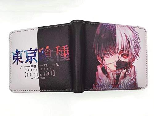 ZHOUBIN Portafoglio Anime Tokyo Ghoul Short Color PU Manga Tasca Portamonete con Scomparto per Le Monete Porta Carte di Credito borsello portacarte for Uomo Donna