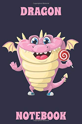 Dragon - Notebook - Lollipop - Navy Blue - Pink - College Ruled