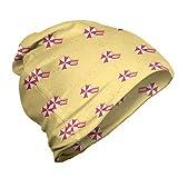 ABAKUHAUS Playa gráfico Gorro Unisex, Toallas y sombrillas, Tela Suave 100% Microfibra Estampada Ideal para Actividades al Aire Libre, En Colores Pastel Amarillo Oscuro Coral