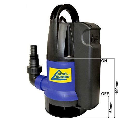 Schmutzwasserpumpe Tauchpumpe Dirt-Star-Extra-SS 400 Gartenpumpe zum Bewässern und als Kellerpumpe zum Entwässern Wasserpumpe mit integriertem Schwimmerschalter, Schmutzwasser Pumpe mit 10m Kabel