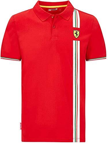 Ferrari Scuderia F1 - Polo con bandera italiana para hombre, color negro y rojo (S, rojo)