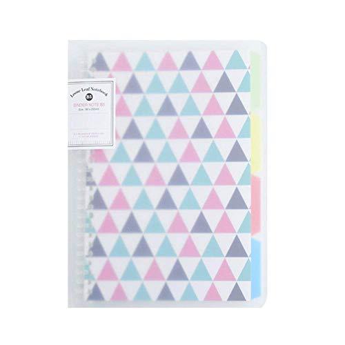 Cuaderno de hojas sueltas de tapa dura, A4, con separador de índices,...