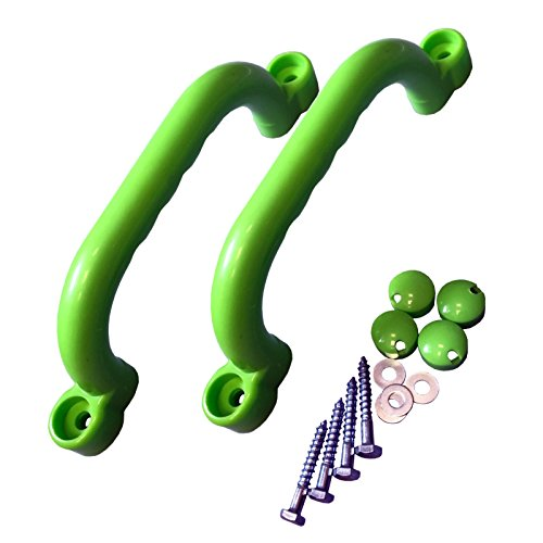 KBT Haltegriffe 1 Paar (2 Stück) Für Spielgeräte, Spieltürme, Stelzenhäuser, Spielhäuser und Spielanlagen (Apfelgrün / Lemon)