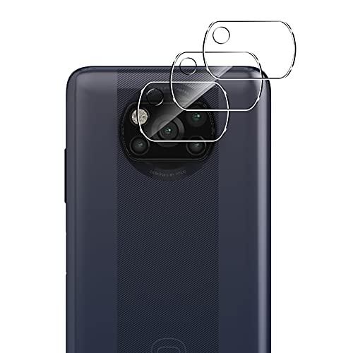 QULLOO Protector de Lente de cámara para Xiaomi Poco X3 Pro/Xiaomi Poco X3 NFC, [Cristal Templado] [Resistente Arañazos] Cámara Protector para Xiaomi Poco X3 Pro/Xiaomi Poco X3 NFC