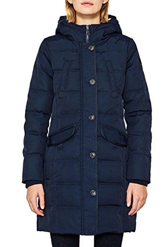 ESPRIT Damen 097EE1G020 Mantel, Blau (Navy 400), Small