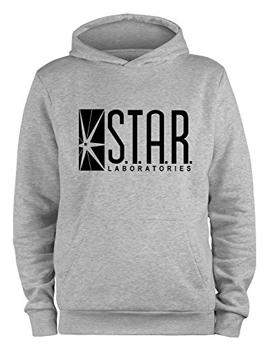 Styletex23 Kapuzenpullover Star Laboratories Labs Logo, M grau