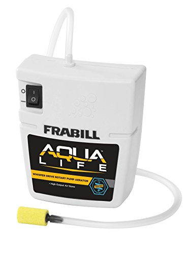 Frabill Quiet Portable Aerator | Battery Powered Portable Aerator for Live Bait Storage