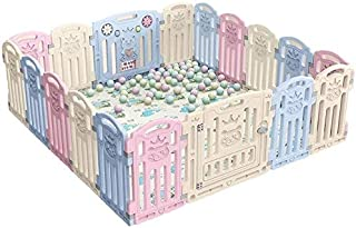 Baby playpen Indoor Play Fence Foldable Space-saving Suitable For Indoor/shopping/playground (Size : 100 * 67cm) cxjff (Color : -)