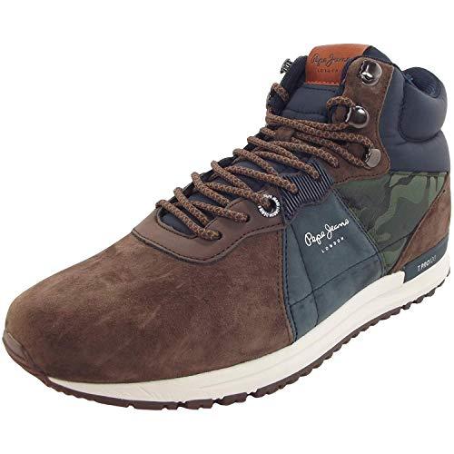 Pepe Jeans Tinker Pro-Boot PMS30490 Herren High Top Sneaker, braun/blau/Camo (Stag), Gr. 40