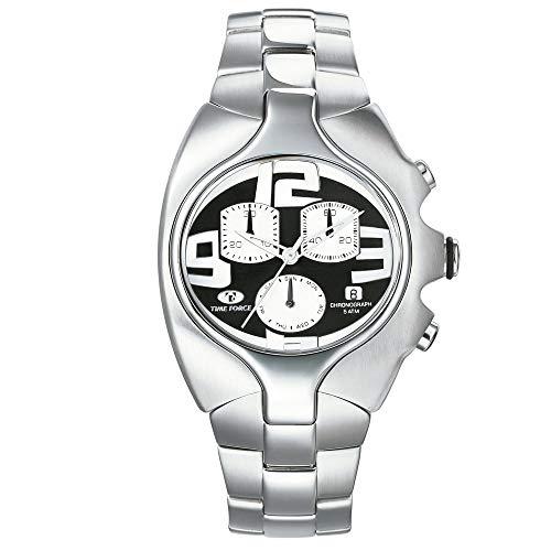 Time Force Orologio Cronografo Quarzo Uomo con Cinturino in Acciaio Inox TF2640M-04M-1