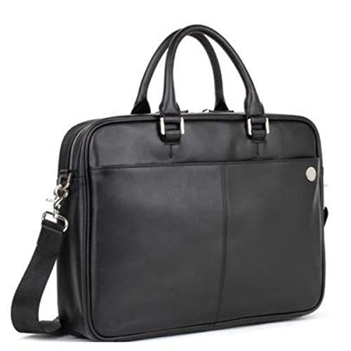 Briefcase leather 'Pierre Cardin'black (1 gusset)- 40x28.5x8 cm...