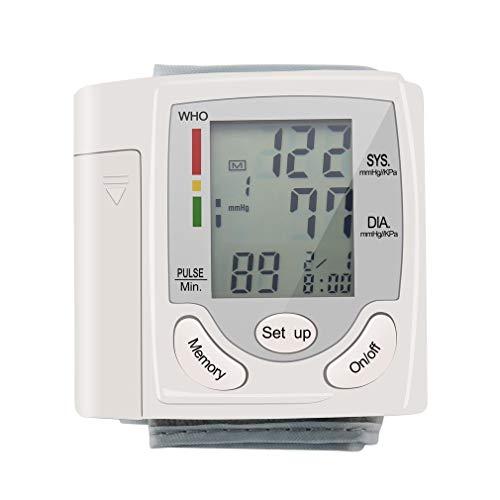Auto LCD Digital superior del brazo medidor de presión arterial muñeca BP Inicio latido del corazón monitor de pulso con Cuff Health Care Instrument