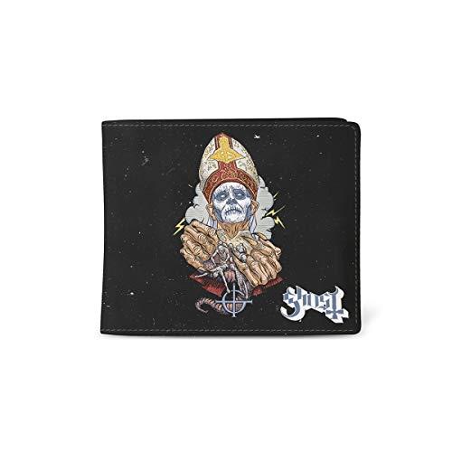 Ghost Brieftasche Papa Nihil Band logo Nue offiziell Schwarz Bifold