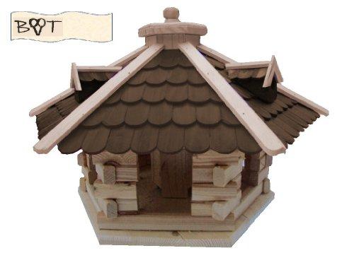 XXL Vogelhaus /garten vogelhäuser, Vogelhaus /garten vogelhäuser, Futterstation aus Holz, Futterhaus SG50duOS dunkelbraun braun ohne Ständer