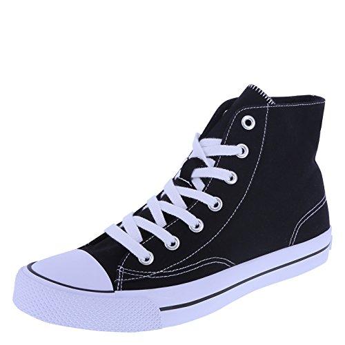 Airwalk Men's Black White Canvas Men's Legacee Sneaker High-Top 9 Regular