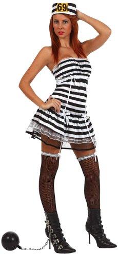 Atosa - Disfraz de prisionera sexy para mujer, talla 42-44 (10434)