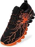 BRONAX Zapatos para Correr en Montaña y Asfalto Aire Libre y Deportes Zapatillas de Running Padel para Hombre Negro Naranja 45