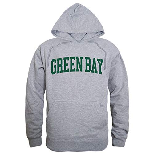 UWGB University of Wisconsin-Green Bay Game Day Hoodie Sweatshirt Heather Grey XXL