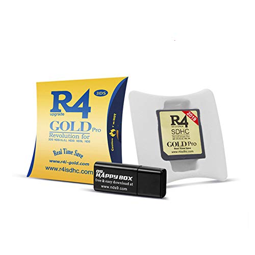 2020 New R4 SDHC Gold Pro + USB Cartridge adapters, 16G TF SD Card Reader Works on DS/3DS/2DS