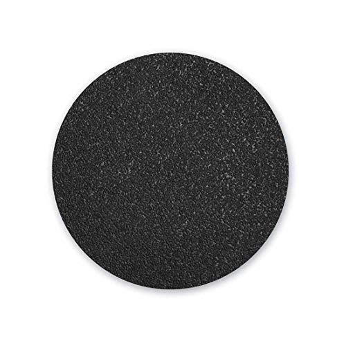 MENZER Black Discos Abrasivos con Velcro, 225 mm, Grano 16, para Lijadoras de Pared, Carburo de Silicio (10 Piezas)