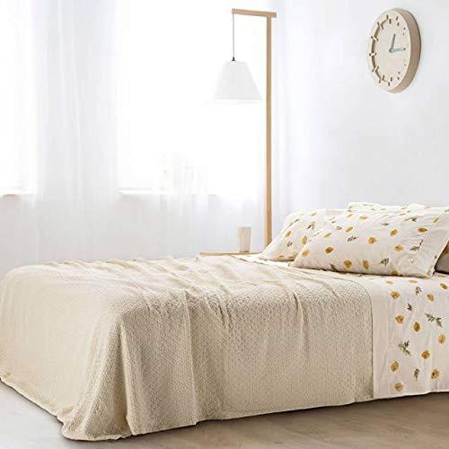 Gabel leichte Tagesdecke für Doppelbett 270 x 260 cm Natur Scilla Natur
