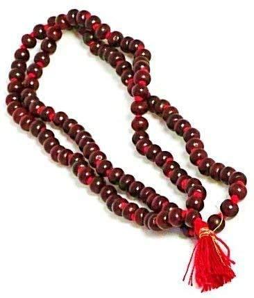 Rosario de madera de sándalo hecho a mano Mala Yoga Beads Meditación Chandan Mala hindú oración para Japa y Meditación Rosario original Raktachandana Lal Chandan Pooja Jap Mala con certificado