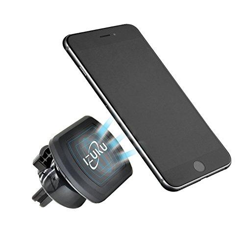 IZUKU Supporto Auto Smartphone Magnetico 360 Gradi di Rotazione [Garanzia a Vita] Porta Celluare per iPhone 8/7/6, Samsung S9/S8,Huawei Mate10/Honor10, Xiaomi Redmi,ECC.