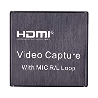gazechimp ループアウト付きビデオHDMIキャプチャカード、4K HD 1080P USB 2.0キャプチャカードに適用ライブストリーミングブロードキャストビデオレコーディングに適用PS3 / 4