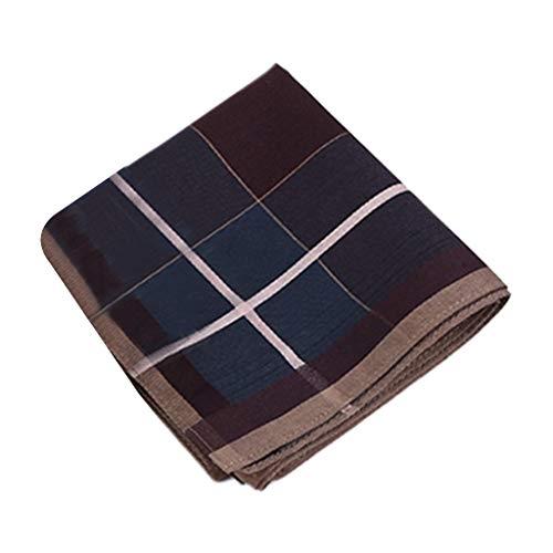 Njuyd - Pañuelo de algodón a rayas de 43 x 43 cm, diseño vintage de cuadros, color profundo, cuadrado, para el pecho, toalla de baile, regalo de fiesta de boda