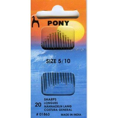 Pony P01863 Aiguilles à Coudre, Steel, Multicolore, 4,5 x 2,8 x 9,8 cm