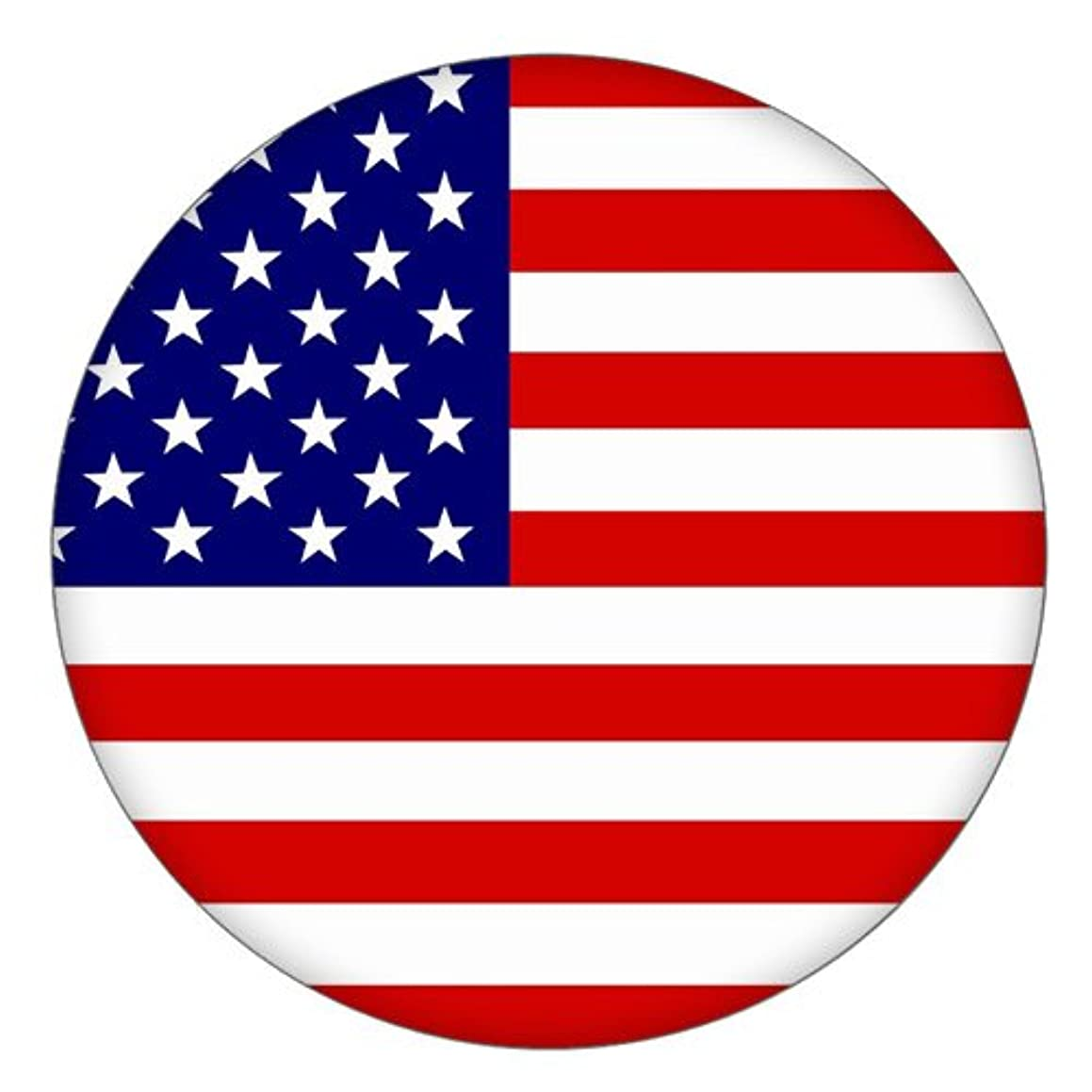 Snap Charm American Flag Enamel Painted Button 20mm 3/4