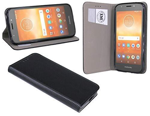 cofi1453® Buch Tasche Smart kompatibel mit Motorola Moto E5 Play Handy Hülle Etui Brieftasche Schutzhülle mit Standfunktion, Kartenfach Schwarz