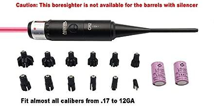 StrongTools Red/Green Laser BoreSighter 177 to .50 Caliber Rifle Scope Handgun Hunting Red/Green Dot Boresight Kit Press Switch Bore Sight 800mAh Battery