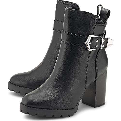 Buffalo Damen Stiefeletten Melany, Frauen Ankle Boots, Stiefel halbstiefel Bootie knöchelhoch reißverschluss Lady,Schwarz(Black),37 EU / 4 UK