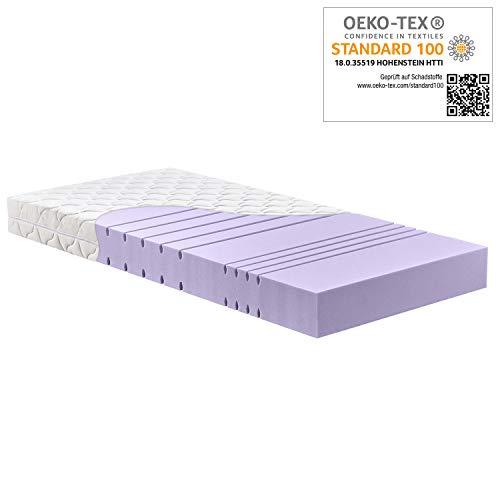 Betten-ABC KSP-1500 Deluxe Kaltschaummatratze mit komfortablen 7 Zonen und Klimafaserbezug Größe 70x200, Farbe H2