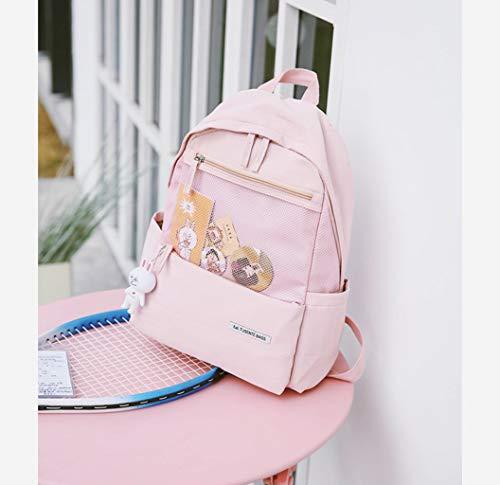 Damesrugzak, reistas, rugzak voor dames, herfst en winter, polyester, sporttas, eenvoudige opslag, klein, yellow (Roze) - sxyp-006